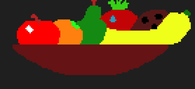 Fruit Bowl Pixel Art Maker